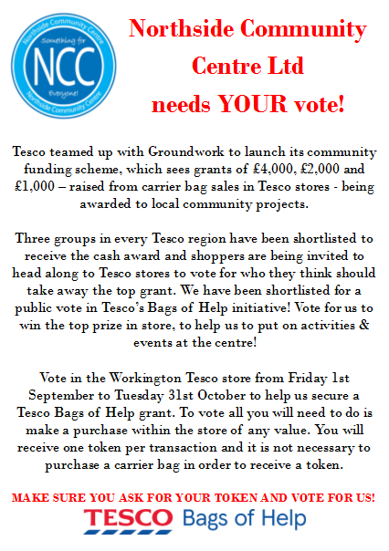 Tesco Bags of Help Votes Poster